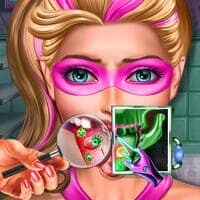Super Barbie com Alergia